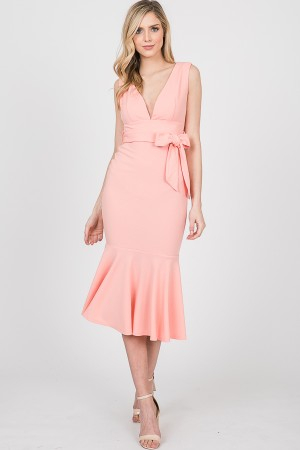 5008IMD / Twenty Ten<br/>SLVL PLUNGE NECK MIDI DRESS