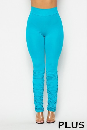 1275-55 / 5th Culture<br/>Plus Size Ruched bottom leggings